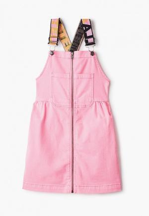 Сарафан Stella McCartney Kids. Цвет: розовый