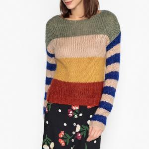 Пуловер с круглым вырезом из трикотажа LOCOU LEON AND HARPER. Цвет: разноцветный
