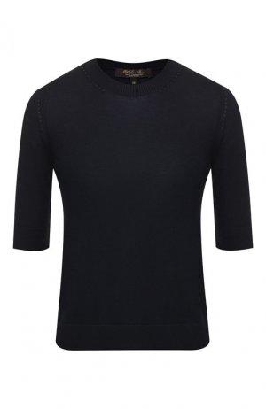 Кашемировый пуловер Loro Piana. Цвет: темно-синий