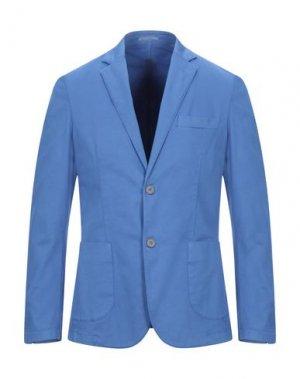 Пиджак ALESSANDRO GILLES. Цвет: лазурный