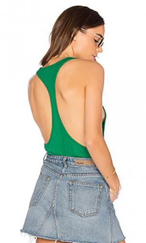 Спортивная майка из модала Bobi. Цвет: зеленый