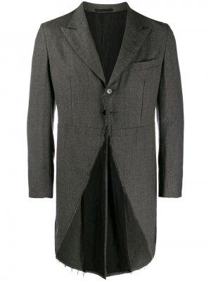 Костюм 2002-го года с необработанными краями Comme Des Garçons Vintage. Цвет: серый