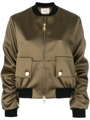 Куртка-бомбер с карманами спереди Dorothee Schumacher. Цвет: зелёный