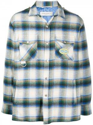 Клетчатая куртка-рубашка Infinity Golden Goose. Цвет: нейтральные цвета
