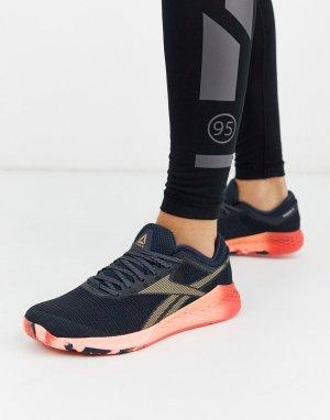 Темно-синие кроссовки nano 9.0-Темно-синий Reebok