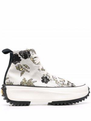 Высокие кроссовки Hybrid Floral Run Star Hike Converse. Цвет: серый