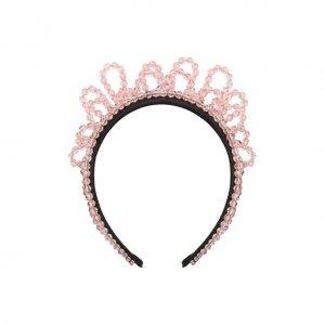 Ободок для волос Simone Rocha. Цвет: розовый