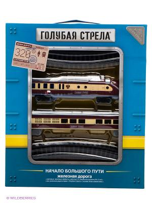 Железная дорога Голубая стрела. Цвет: бордовый, серый