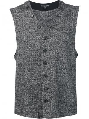 Жилет на пуговицах Engineered Garments. Цвет: чёрный