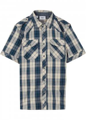 Рубашка Regular Fit bonprix. Цвет: синий