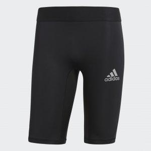 Укороченные тайтсы Alphaskin Sport Performance adidas. Цвет: черный