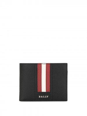 Бумажник с полосками Bally. Цвет: черный