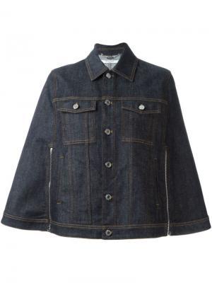 Джинсовая куртка-накидка Givenchy. Цвет: синий