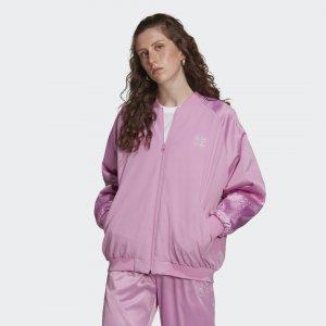 Куртка-бомбер 2000 Luxe adidas. Цвет: none