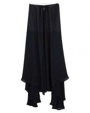 Длинная юбка FRANCESCA PICCINI. Цвет: темно-синий