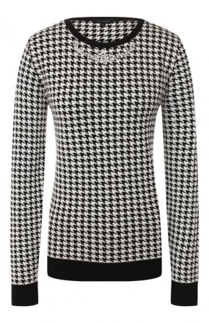 Пуловер из смеси шерсти и вискозы Escada. Цвет: черно-белый