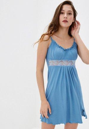 Сорочка ночная Arloni. Цвет: голубой