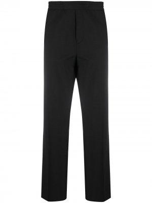Прямые брюки с эластичным поясом Acne Studios. Цвет: черный