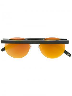 Солнцезащитные очки с круглой оправой Stable Han Kjøbenhavn. Цвет: чёрный