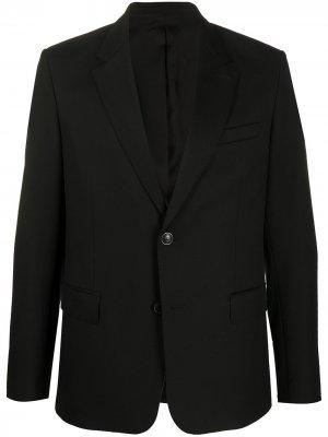 Однобортный пиджак AMI Paris. Цвет: черный