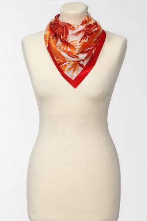 Платок F.FRANTELLI. Цвет: красный,оранжевый