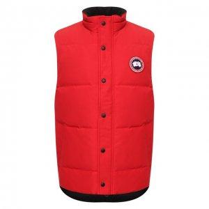 Пуховый жилет Garson Vest Canada Goose. Цвет: красный