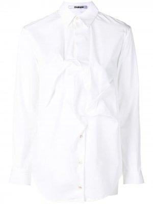 Рубашка с детелями Chalayan. Цвет: белый