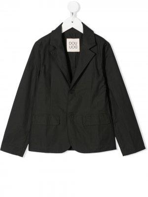 Однобортный пиджак Douuod Kids. Цвет: черный