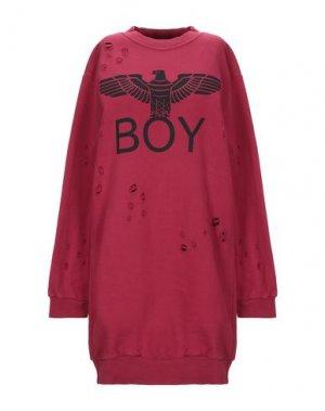 Короткое платье BOY LONDON. Цвет: красно-коричневый