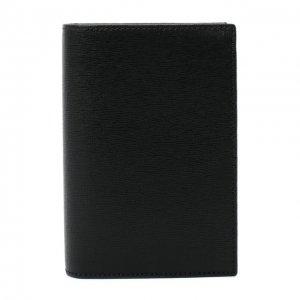 Кожаная обложка для паспорта Canali. Цвет: чёрный