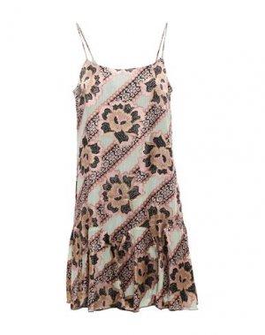 Короткое платье ANNA SUI. Цвет: пастельно-розовый