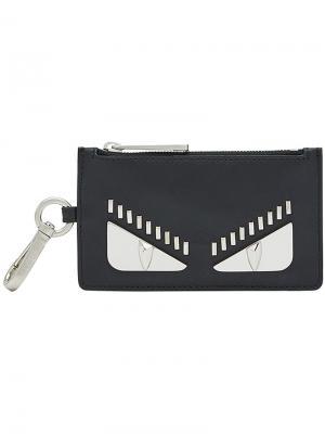 Bag Bugs embellished cardholder Fendi. Цвет: чёрный
