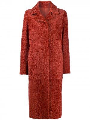 Двустороннее однобортное пальто Drome. Цвет: красный