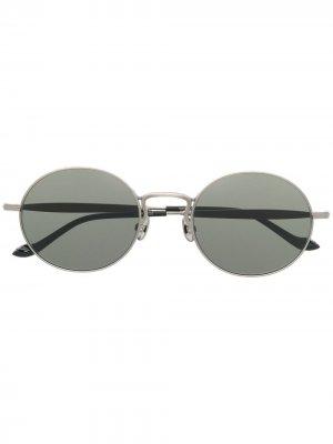 Солнцезащитные очки 2809H в круглой оправе Matsuda. Цвет: золотистый