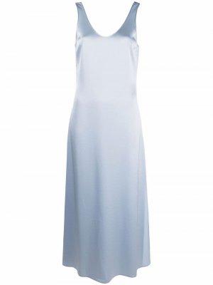 Атласное платье-комбинация Jocelyn Filippa K. Цвет: синий
