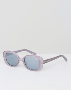 Квадратные солнцезащитные очки в серой оправе Lulu-Серый Quay Australia
