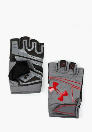 Перчатки для фитнеса Under Armour UA Coolswitch Flux. Цвет: серый