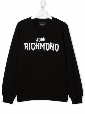 TEEN logo print sweater John Richmond Junior. Цвет: черный