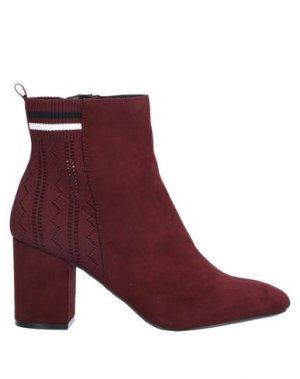Полусапоги и высокие ботинки LA STRADA. Цвет: красно-коричневый