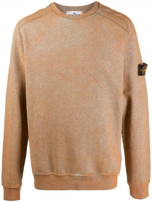Dust-dyed effect sweatshirt Stone Island. Цвет: оранжевый