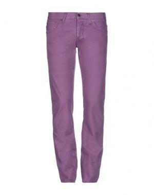 Джинсовые брюки 2 MEN. Цвет: фиолетовый
