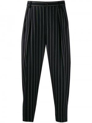 Классические брюки в тонкую полоску Dolce & Gabbana. Цвет: черный