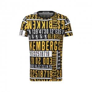 Хлопковая футболка Dirk Bikkembergs. Цвет: жёлтый