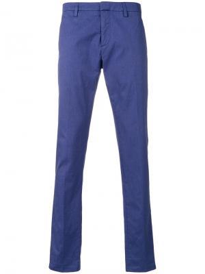 Классические брюки-чинос Dondup. Цвет: синий