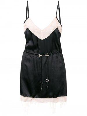 Короткое платье с эффектом изнанки Diesel. Цвет: черный
