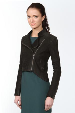 Куртка кожаная Helmut Lang. Цвет: черный