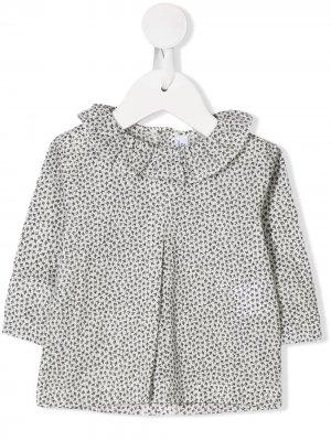 Блузка с принтом Aletta. Цвет: белый