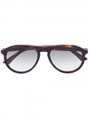 Солнцезащитные очки Harper в круглой оправе Kirk Originals. Цвет: зеленый
