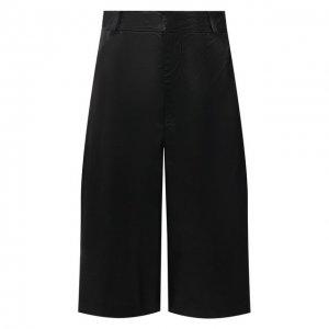 Кожаные шорты Simonetta Ravizza. Цвет: чёрный
