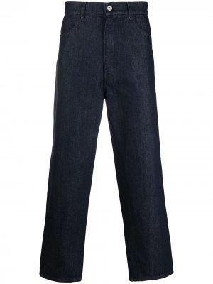 Прямые брюки с завышенной талией Barena. Цвет: синий